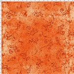 Tecido Estampado para Patchwork - 50 Tons Arabesco Laranja Páprica Cor 38 (0,50x1,40)
