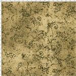 Tecido Estampado para Patchwork - 50 Tons Arabesco Sépia Cor 44 (0,50x1,40)