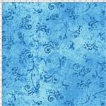Tecido Estampado para Patchwork - 50 Tons Arabesco Turquesa Cor 19 (0,50x1,40)