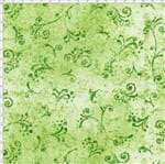 Tecido Estampado para Patchwork - 50 Tons Arabesco Verde Abacate Cor 25 (0,50x1,40)