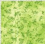 Tecido Estampado para Patchwork - 50 Tons Arabesco Verde Limão Cor 26 (0,50x1,40)