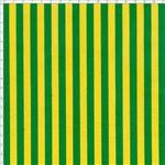 Tecido Estampado para Patchwork - 50033 Listrado Médio Verde e Amarelo Cor 41 (0,50x1,40)
