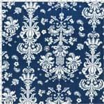 Tecido Estampado para Patchwork - 50576 Arabesco em Listra Azul Fundo Azul Cor 02 (0,50x1,40)