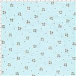 Tecido Estampado para Patchwork - 60370 Micro Floral com Poá Azul Bebê Cor 02 (0,50x1,40)
