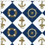 Tecido Estampado para Patchwork - 69012 Nautica Marinho Cor 02 (0,50x1,40)