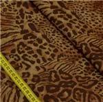 Tecido Estampado para Patchwork - Animal Print: Patch Pele Marrom (0,50x1,50)