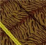 Tecido Estampado para Patchwork - Animal Print: Pele de Tigre Marrom (0,50x1,50)