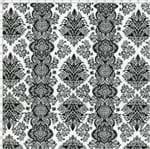 Tecido Estampado para Patchwork - Arabesco Preto 327999 Cor 100 (0,50X1,40)