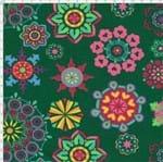 Tecido Estampado para Patchwork - Arte em Cores Mandala Chof (0,50x1,40)