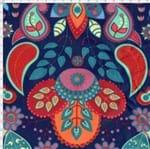 Tecido Estampado para Patchwork - Arte em Cores Paisley Crow (0,50x1,40)