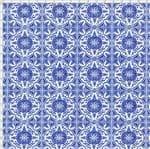 Tecido Estampado para Patchwork - Azulejo Português Coimbra 325252 Cor 1625 (0,50X1,40)