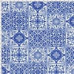 Tecido Estampado para Patchwork - Azulejo Português Porto 325252 Cor 1623 (0,50X1,40)