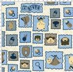 Tecido Estampado para Patchwork - Baby Azul Cor 2143 (0,50x1,40)