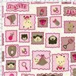 Tecido Estampado para Patchwork - Baby Rosa Cor 2145 (0,50x1,40)