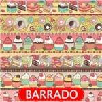 Tecido Estampado para Patchwork - Barrado Confeitaria Cor 2105 (0,50x1,40)