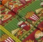 Tecido Estampado para Patchwork - Barrado Fast Food Cor 2161