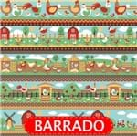 Tecido Estampado para Patchwork - Barrado Fazendinha Cor 2106 (0,50x1,40)