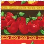 Tecido Estampado para Patchwork - Barrado Frutas Cor 2072 (0,50x1,40)