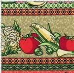 Tecido Estampado para Patchwork - Barrado Verduras Cor 2091 (0,50x1,40)