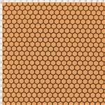 Tecido Estampado para Patchwork - Bee Buzz: Colmeia Pêssego (0,50x1,40)