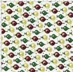 Tecido Estampado para Patchwork - Bolas de Natal 325686 Cor 610 (0,50X1,40)