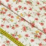 Tecido Estampado para Patchwork - Buquê de Rosas Cor 2182