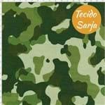 Tecido Estampado para Patchwork - Camuflado Sarja Verde com Verde (0,50x1,40)