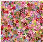 Tecido Estampado para Patchwork - Casa Belém Chapeuzinho Vermelho Flores (0,50x1,40)