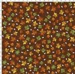 Tecido Estampado para Patchwork - Casa Belém Corujices Folhas (0,50x1,40)