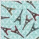 Tecido Estampado para Patchwork - Casa Belém Je T'aime Torre Eiffel (0,50x1,40)