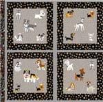 Tecido Estampado para Patchwork - Casa Belém Painel Almofadas Pet Dog Cor 01 (0,60x1,40)
