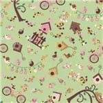 Tecido Estampado para Patchwork - Casa Belém Recanto dos Passarinhos Cor 01 (0,50x1,40)
