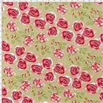 Tecido Estampado para Patchwork - Coleção Cherry Roses Caramel (0,50x1,40)