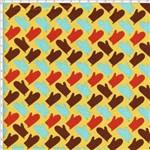 Tecido Estampado para Patchwork - Coleção Cozinha Luvas Mostarda (0,50x1,40)
