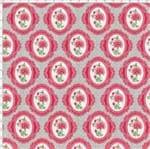 Tecido Estampado para Patchwork - Coleção Delicatesse Rosa Camafeu (0,50x1,40)
