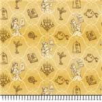 Tecido Estampado para Patchwork - Coleção Disney Bela (0,50x1,50)