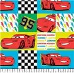 Tecido Estampado para Patchwork - Coleção Disney Carros Multicor (0,50x1,50)