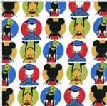 Tecido Estampado para Patchwork - Coleção Disney Mickey e Amigos (0,50x1,50)