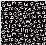 Tecido Estampado para Patchwork - Coleção Eduk Letras e Números Cor 01 (0,50x1,40)