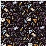Tecido Estampado para Patchwork - Coleção Eduk Lousa Color Cor 01 (0,50x1,40)