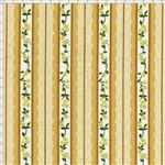 Tecido Estampado para Patchwork - Coleção Floral Paris Listrado Rendas Caramelo (0,50x1,40)