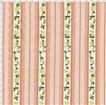 Tecido Estampado para Patchwork - Coleção Floral Paris Listrado Rendas Rosa Antigo (0,50x1,40)