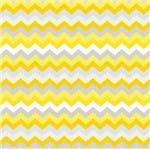 Tecido Estampado para Patchwork - Coleção Gris Chevron Amarelo com Cinza (0,50x1,40)