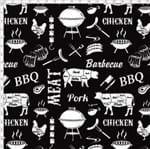 Tecido Estampado para Patchwork - Coleção Homens da Casa Barbacoa Black Cor 01 (0,50x1,40)