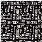 Tecido Estampado para Patchwork - Coleção Homens da Casa Cocinero Black Cor 01 (0,50x1,40)