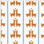 Tecido Estampado para Patchwork - Coleção Lhamas Lhama Coração Abóbora (0,50x1,40)
