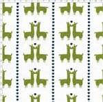Tecido Estampado para Patchwork - Coleção Lhamas Lhama Coração Verde (0,50x1,40)