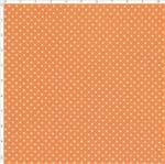 Tecido Estampado para Patchwork - Coleção Lhamas Micro Poá Abóbora (0,50x1,40)