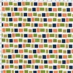 Tecido Estampado para Patchwork - Coleção Lhamas Quadradinhos com Verde (0,50x1,40)