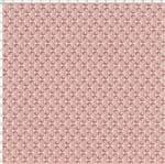 Tecido Estampado para Patchwork - Coleção Mini Elementos Grade Portuguesa Salmão (0,50x1,40)